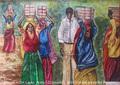 In Diesem Bild wollte ich zeigen wie im Sri Lanka (und nicht nur da)Frauen Hart arbeiten müssen und die Männer offt kucken zu.Diese Bilder sind nach meine Reise in Sri Lanka entstanden.